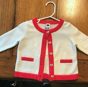 Toddler Cardigan/sweater with bow on back
